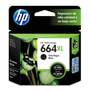 Cartucho de tinta HP 664XL negra codigo: F6V31AL