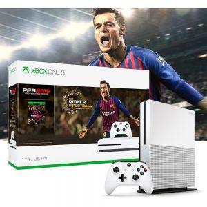 Microsoft Xbox One S 1TB PES 2019 Bundle Edition blanco