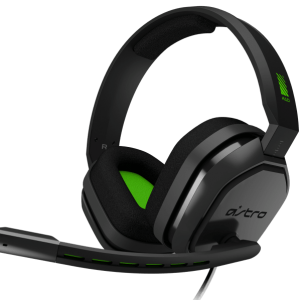 Auriculares gamer Astro A10 gris oscuro y verde